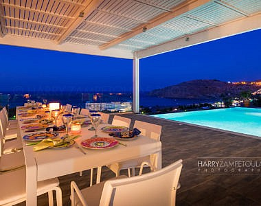 Pool-Night-7-380x300 Luxury Villa in Vlicha, Lindos, Rhodes - Professional Photography Harry Zampetoulas