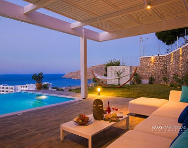 Pool-Night-2-380x300 Luxury Villa in Vlicha, Lindos, Rhodes - Professional Photography Harry Zampetoulas