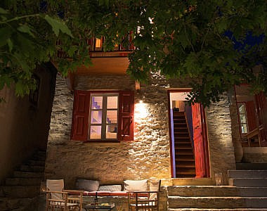 Exterior-Night-2-380x300 Platanos Cottage, Traditional House in Symi - Professional Photography Harry Zampetoulas