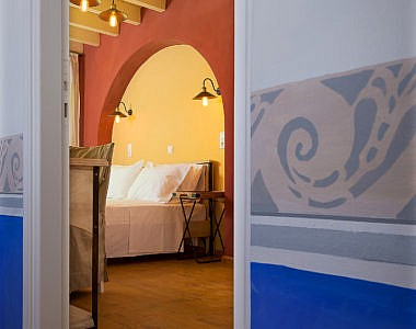Hall-Bedroom-3-380x300 Platanos Cottage, Traditional House in Symi - Professional Photography Harry Zampetoulas