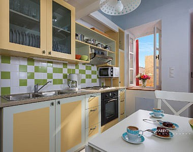 Kitchen-1-4-380x300 Platanos Cottage, Traditional House in Symi - Professional Photography Harry Zampetoulas