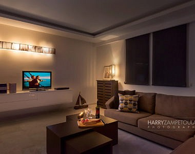 Livingroom-Night-3-380x300 Apartment in Rhodes Town - Professional Photography Harry Zampetoulas