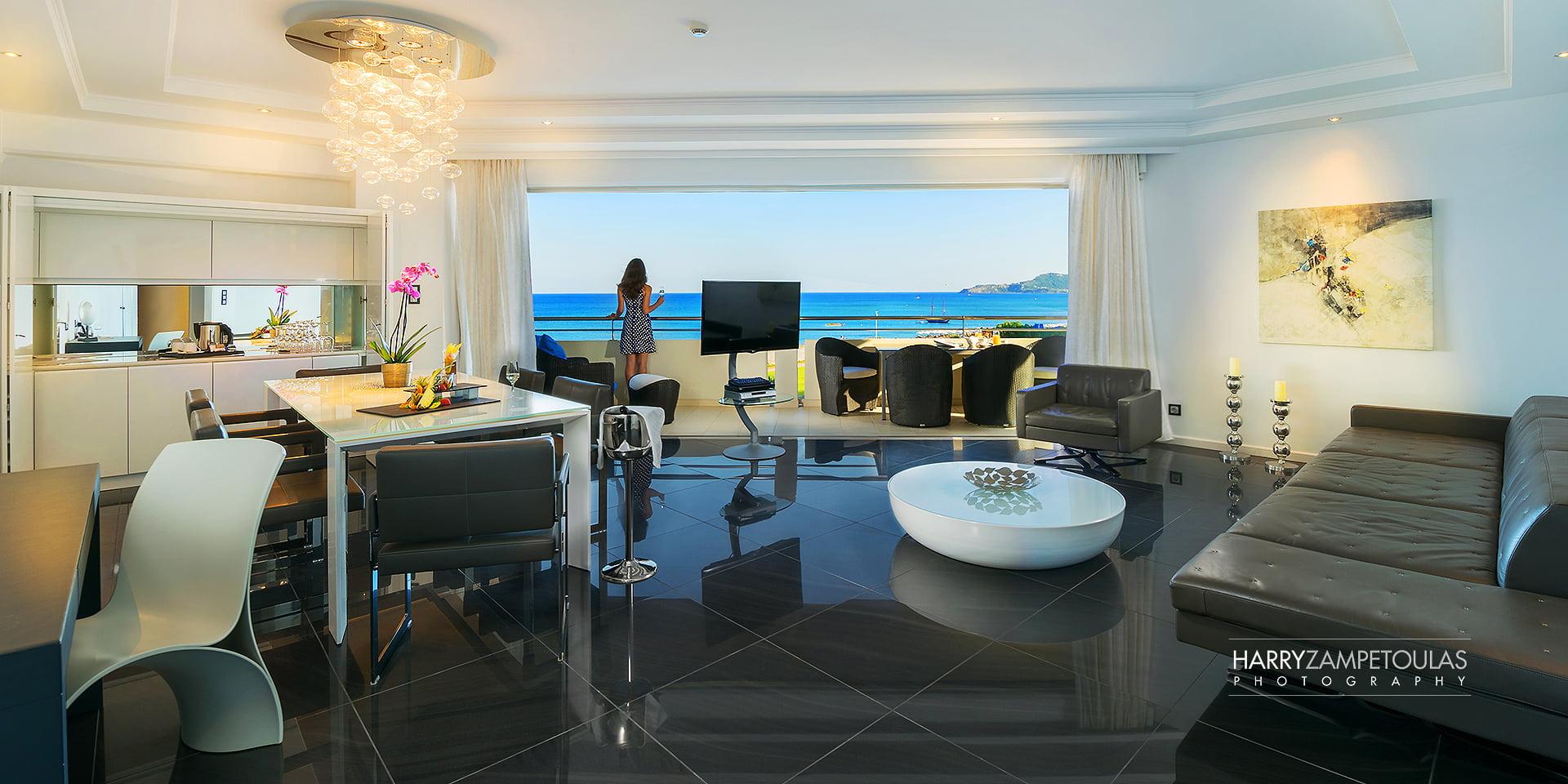 Presidential-livingroom Φωτογράφιση Ξενοδοχείων, καταλυμάτων, Villas. Google Street View Trusted Photographer.