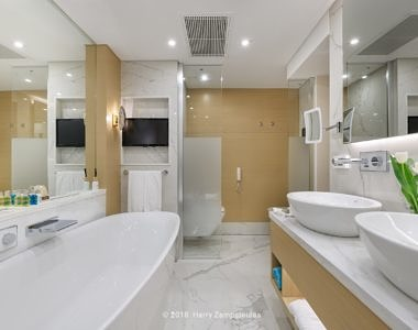 Sunset-Junior-Suite-Bathroom-2-1-380x300 Rodos Palace Hotel - Hotel Photography by Harry Zampetoulas